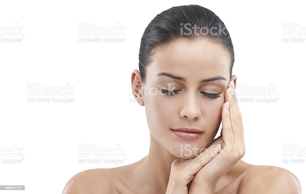Her skin is smooth and silky royalty-free stock photo