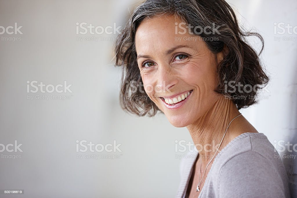 Her smile will brighten your day stock photo