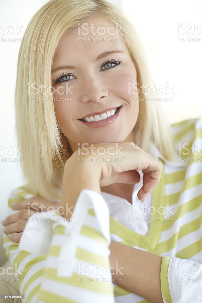 Her smile will can put anyone at ease... royalty-free stock photo