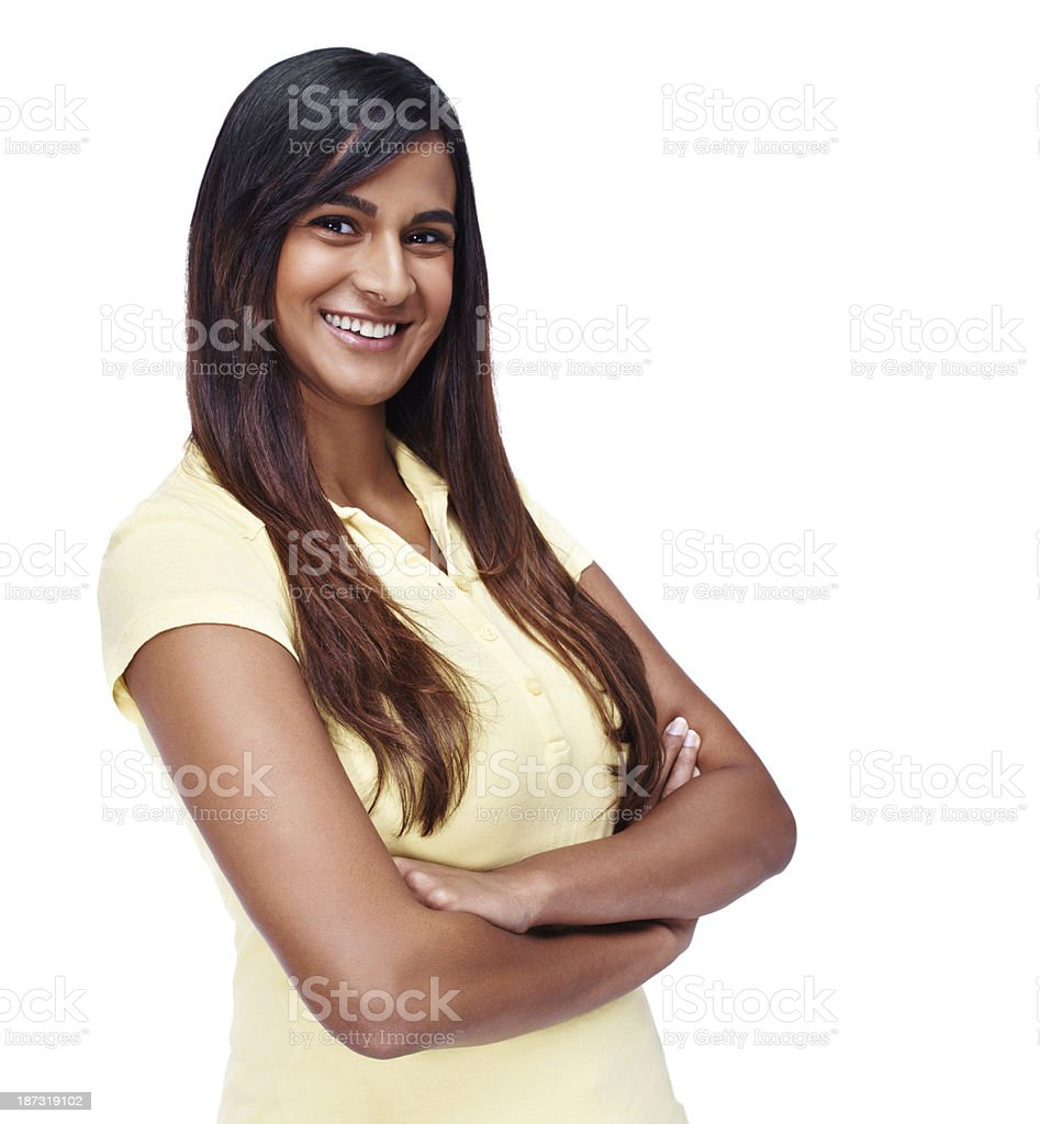 Her smile will light up your day royalty-free stock photo