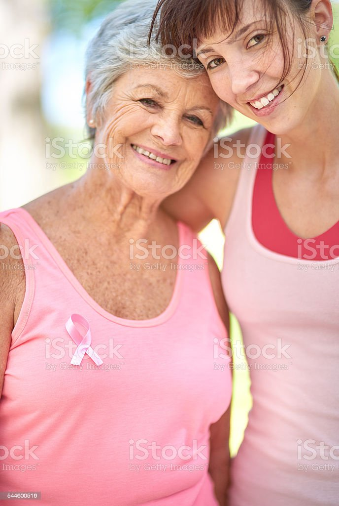 Her support is priceless stock photo