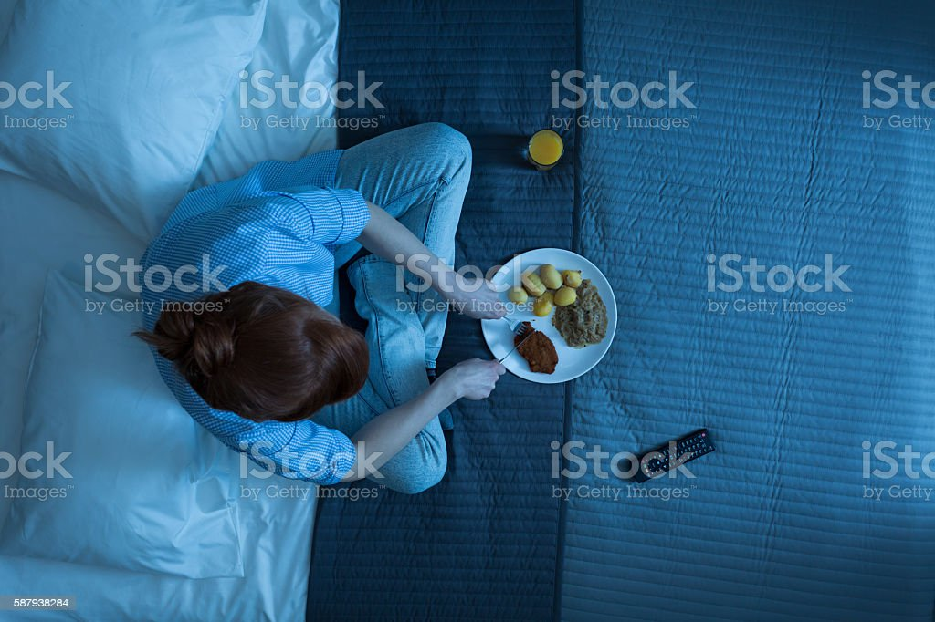 Her typical evening stock photo
