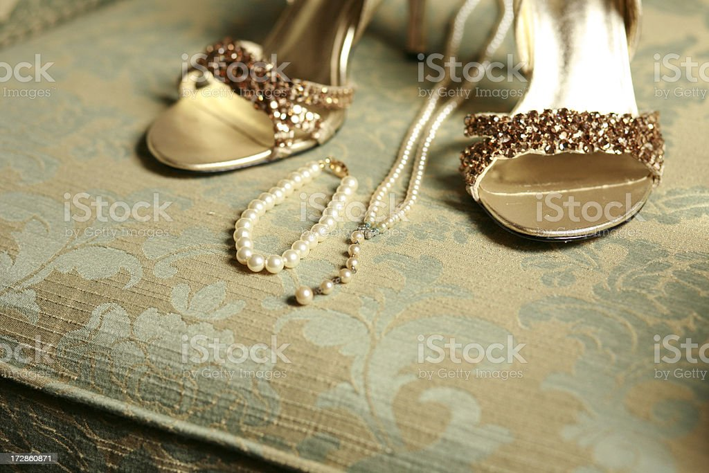 Her Wedding Things stock photo
