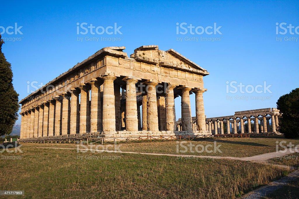 Hera Temple in Paestum, Italy stock photo