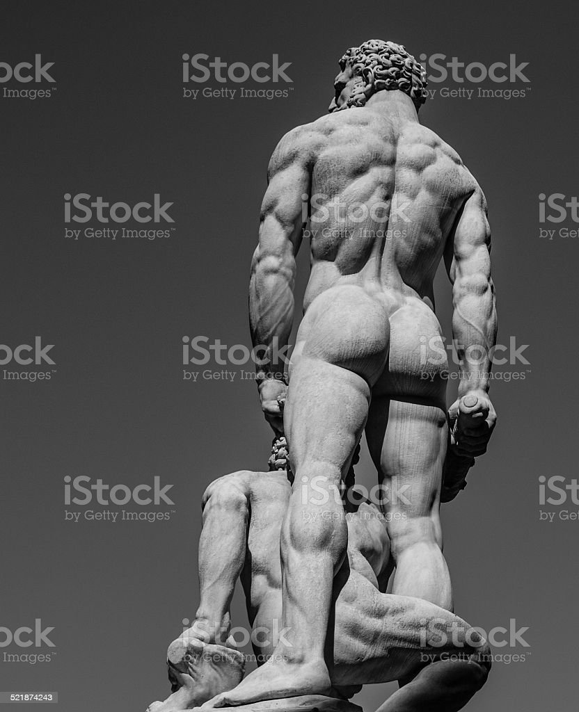 Heracles and Cacus stock photo