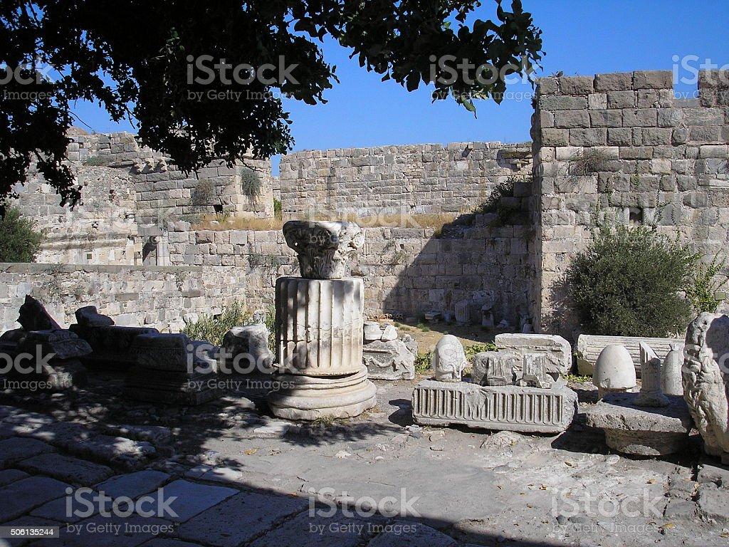 Herakleion bath in Greece stock photo