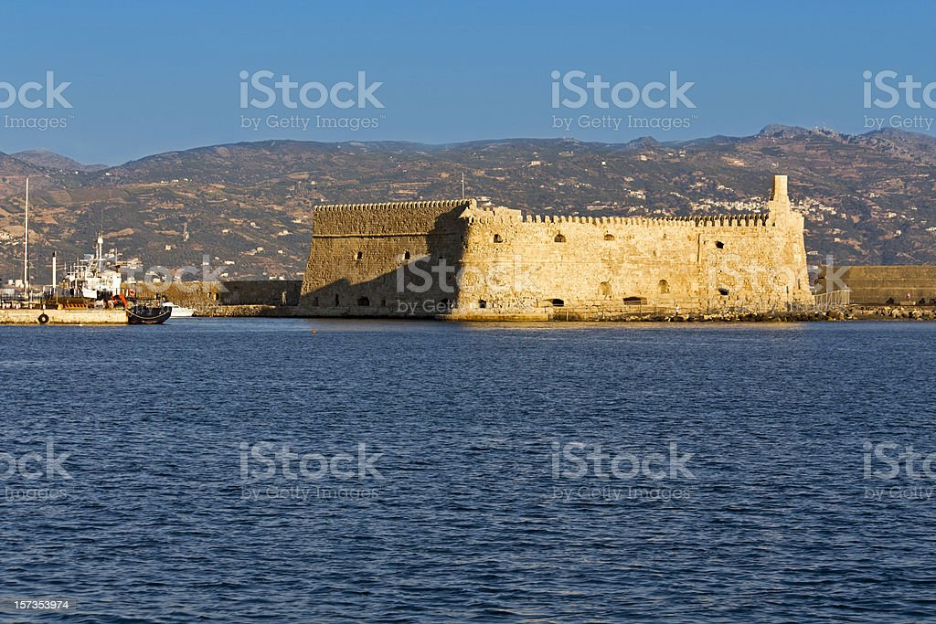 Heraklio city at Crete island in Greece royalty-free stock photo