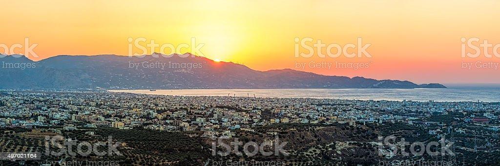 Heraklion, Crete, Greece, Europe at sunset stock photo