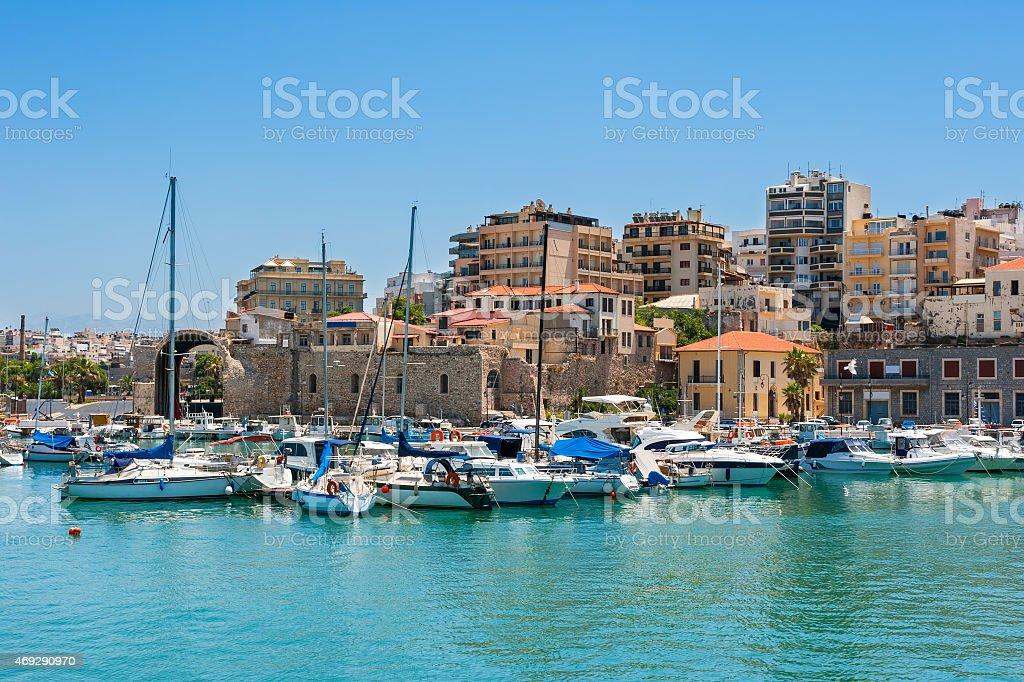 Heraklion harbour. Crete, Greece stock photo