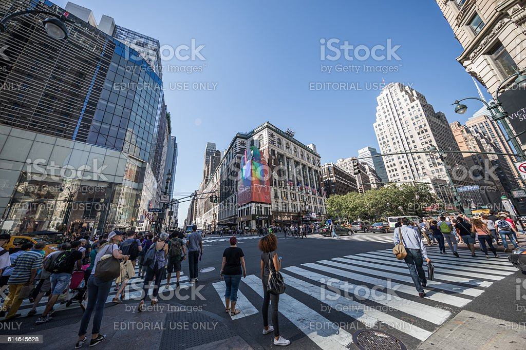 Herald Square, Manhatten, New York City, United States stock photo