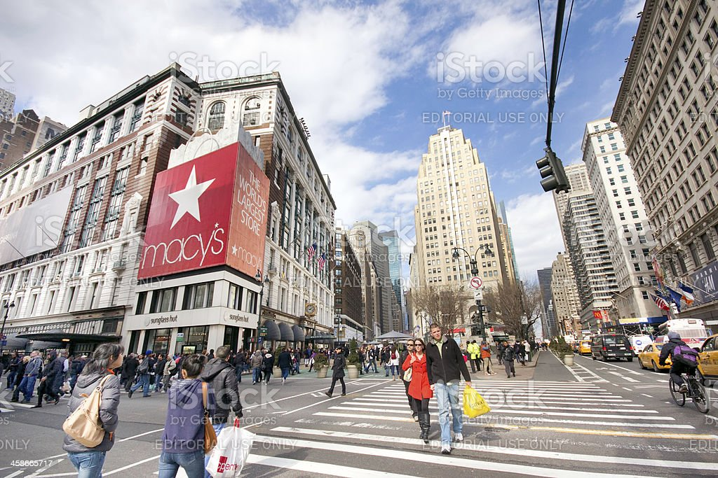 Herald Square New York City stock photo