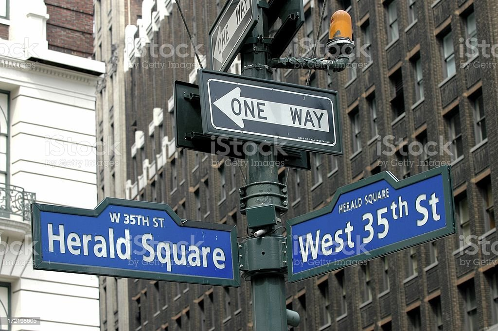 Herald Square on 35th Street royalty-free stock photo