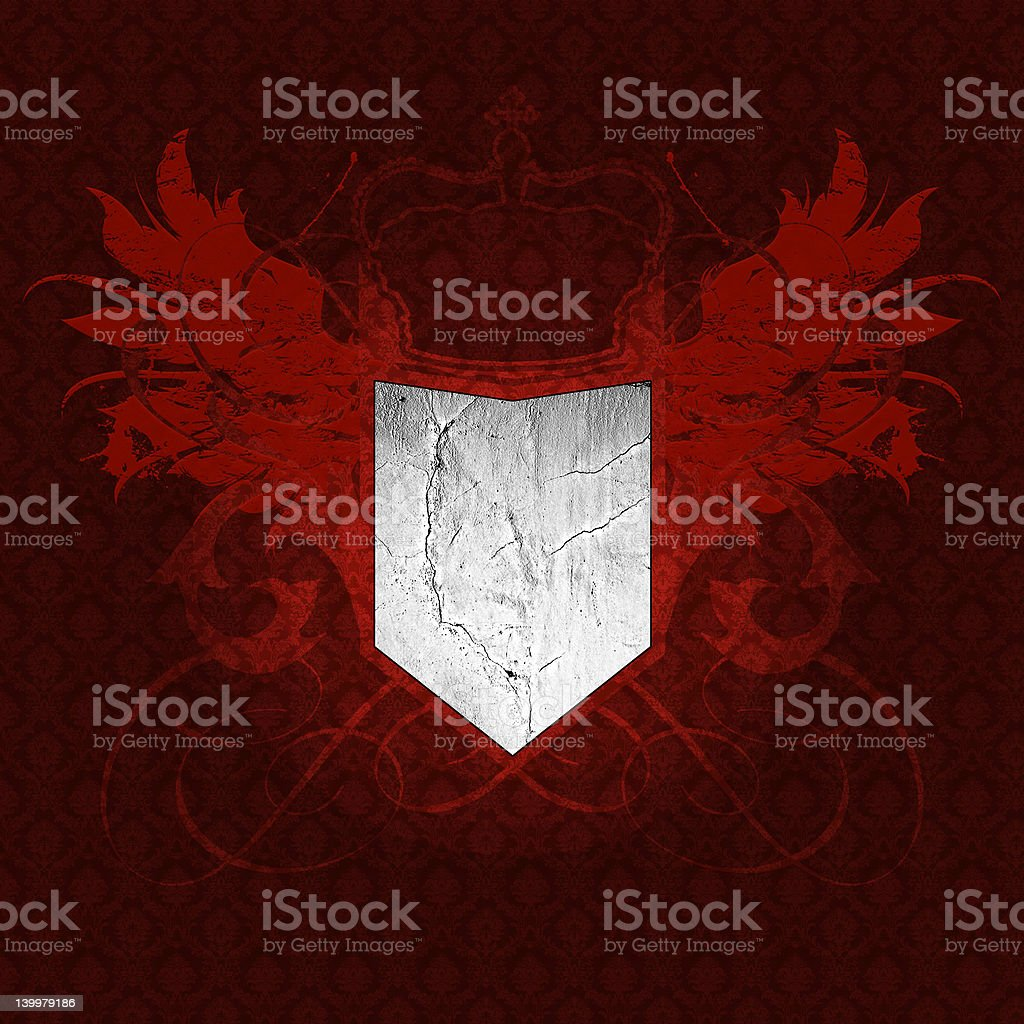 heraldry on a seamless vintage wallpaper royalty-free stock photo
