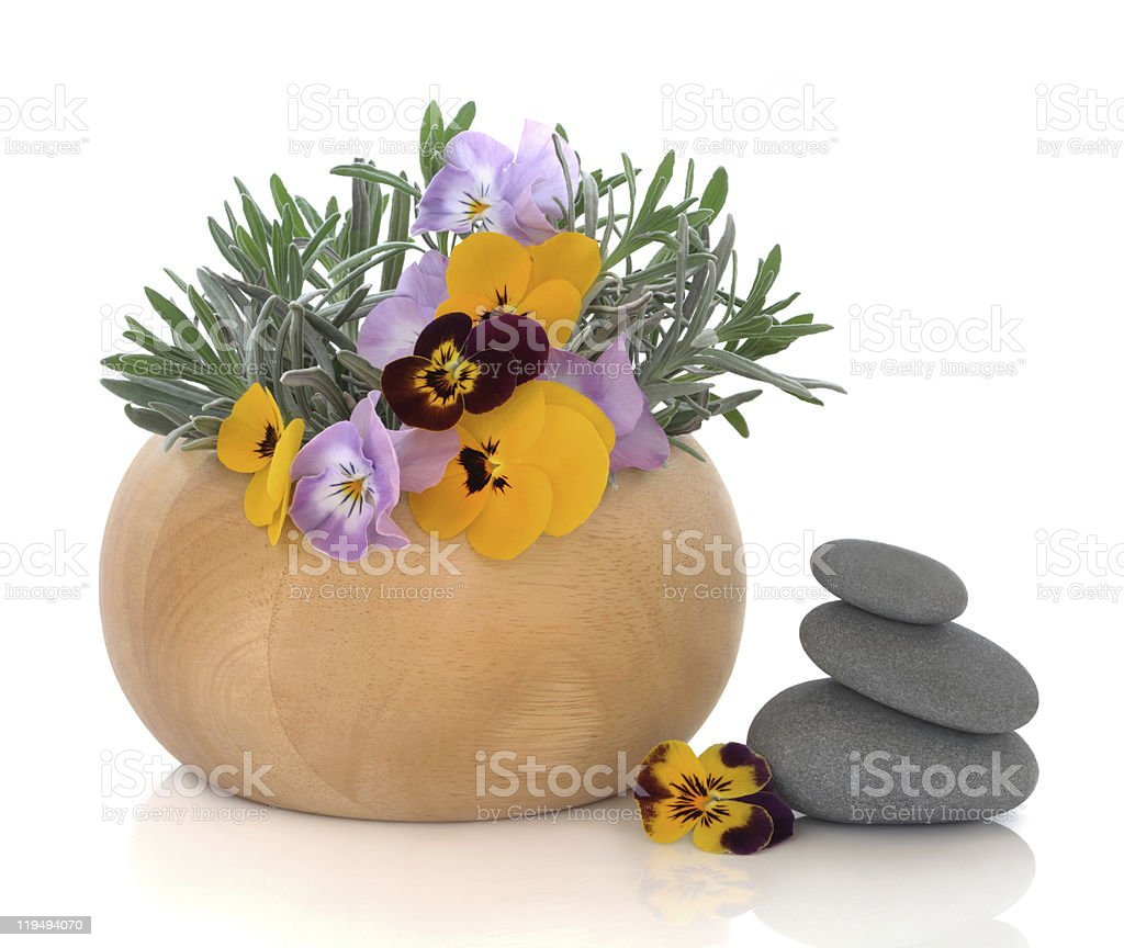 Herb and Flower Therapy royalty-free stock photo