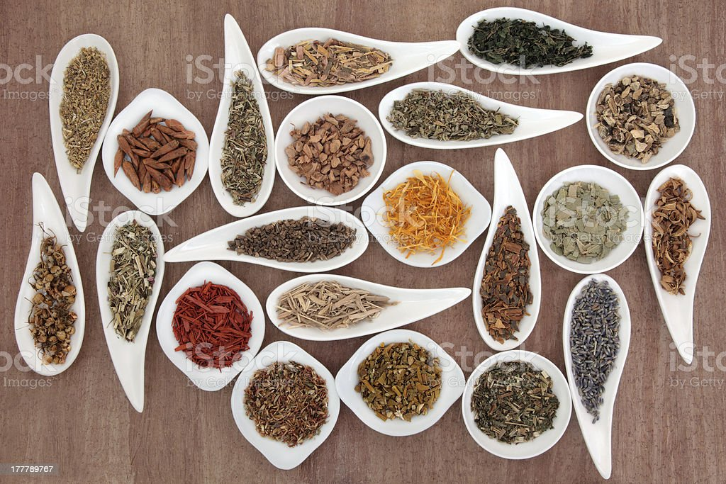 Herb and Spice Sampler royalty-free stock photo