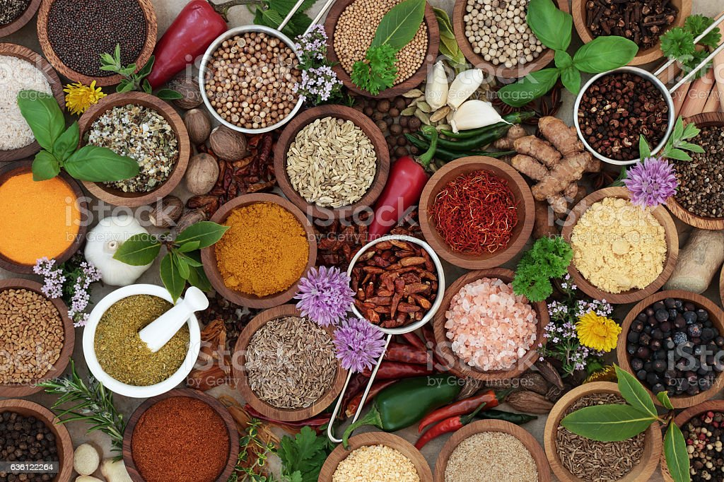 Herb and Spice Seasoning stock photo