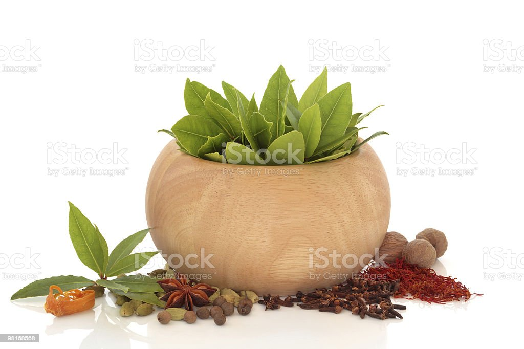 Herb and Spice Selection royalty-free stock photo
