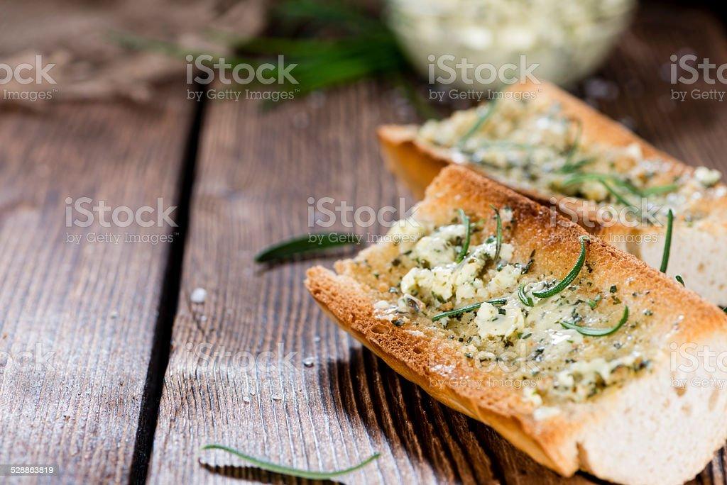 Herb Butter Baguette stock photo
