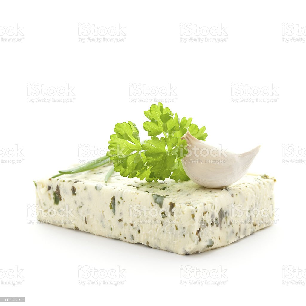 herb butter stock photo