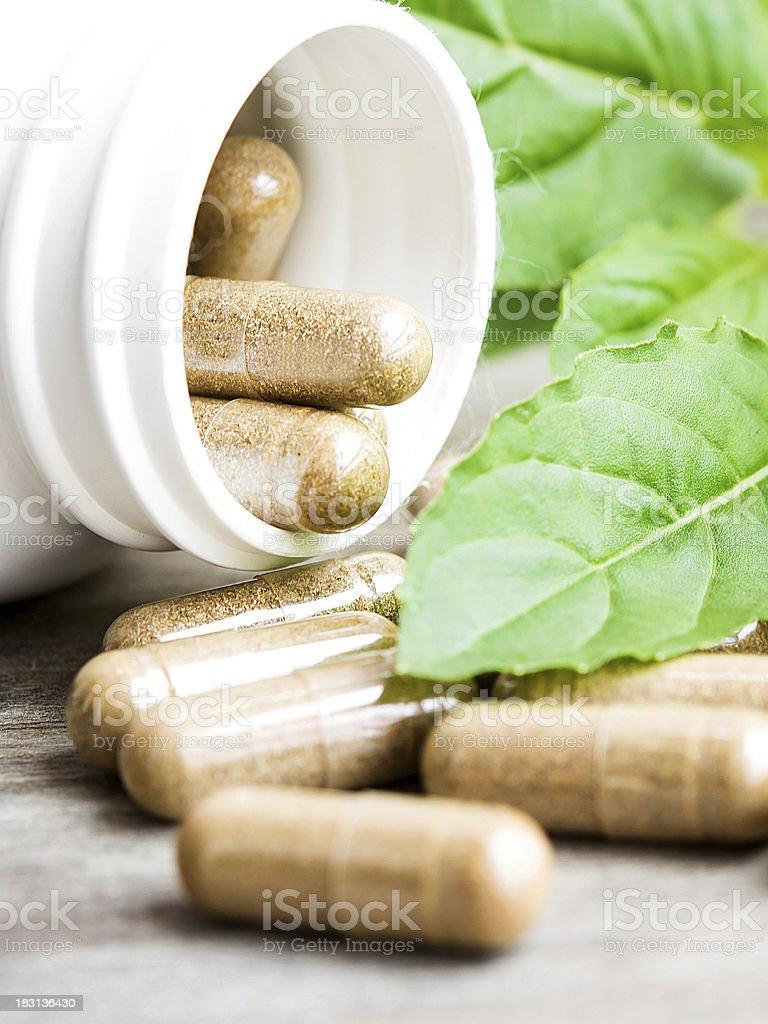 herb capsule royalty-free stock photo