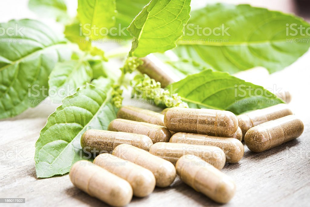 herb capsule royalty-free stock photo