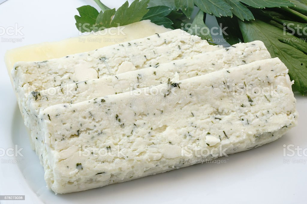 Herb Cheese and Parsley stock photo