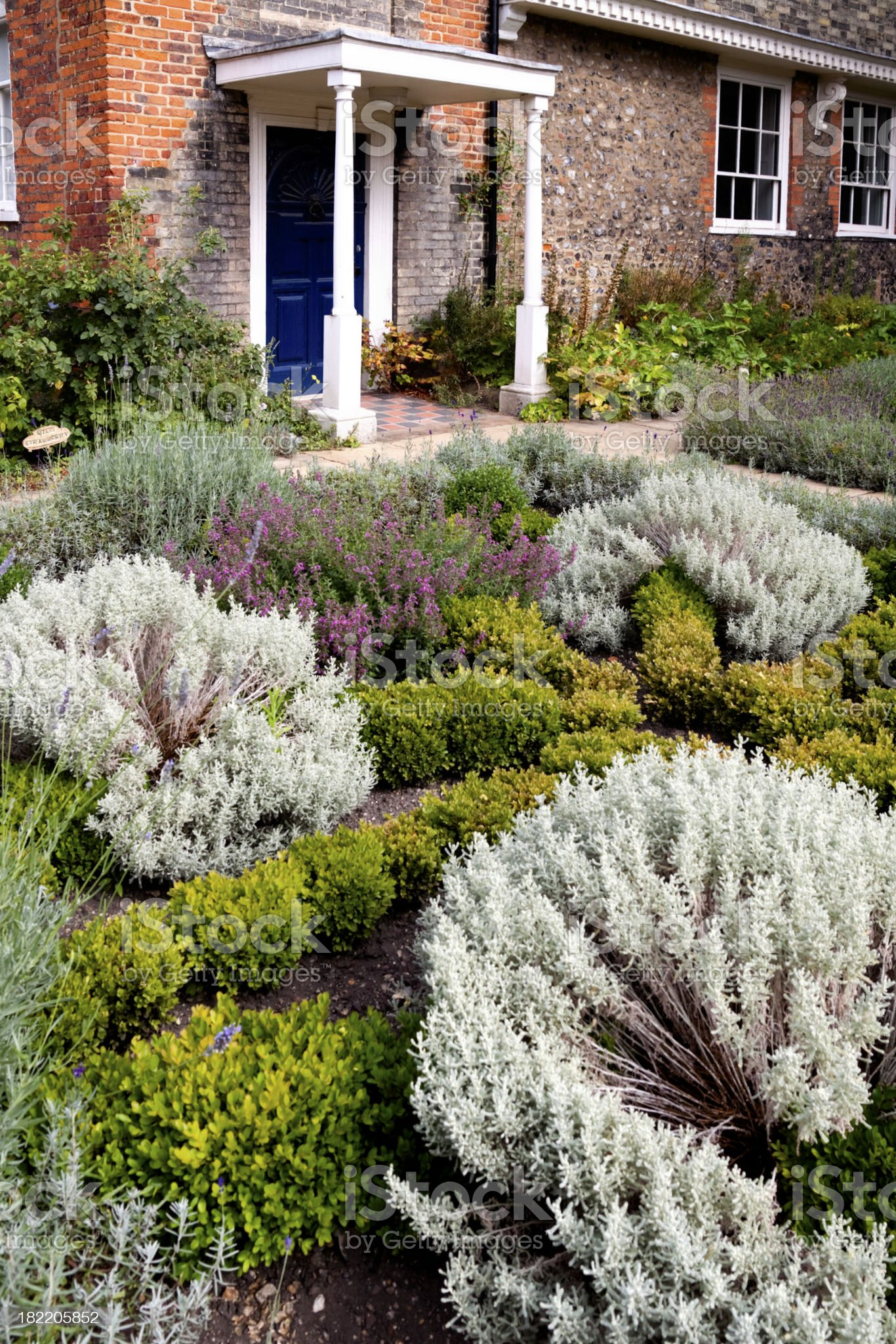 Herb garden and front door royalty-free stock photo