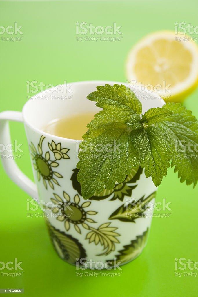 Herb tea with lemon and lemongrass royalty-free stock photo