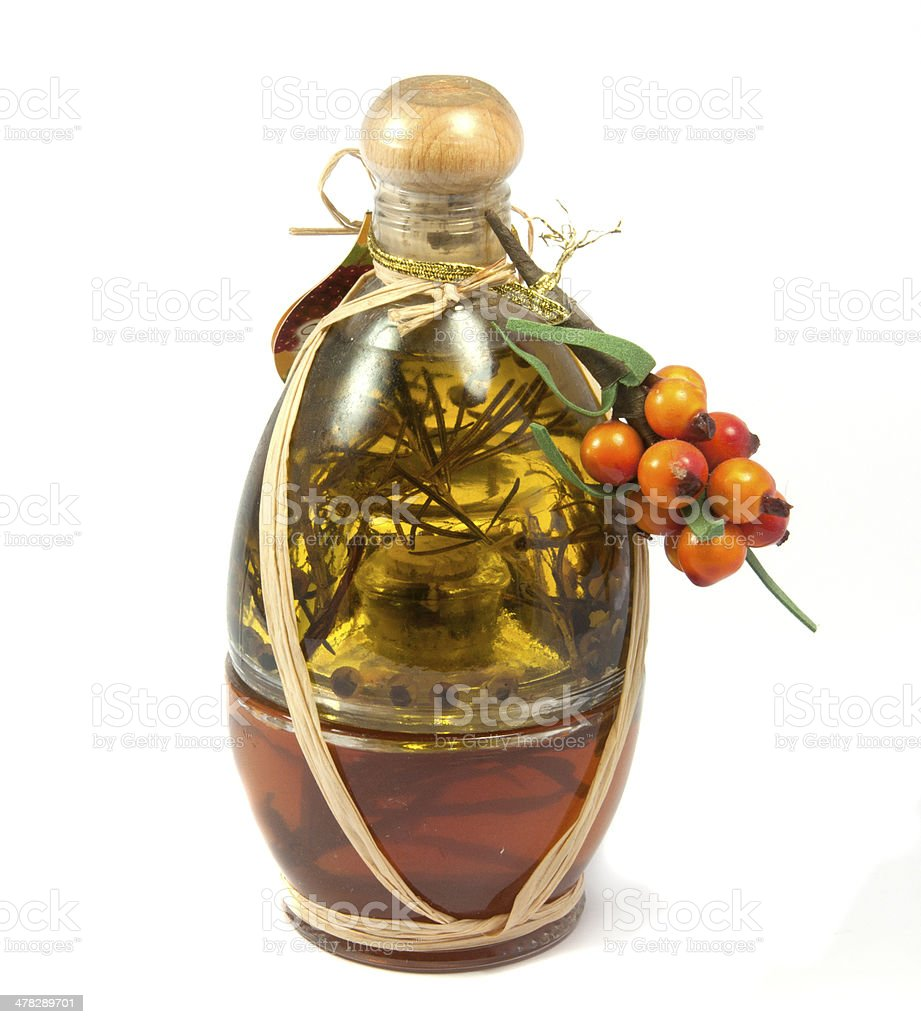 herb vinegar royalty-free stock photo