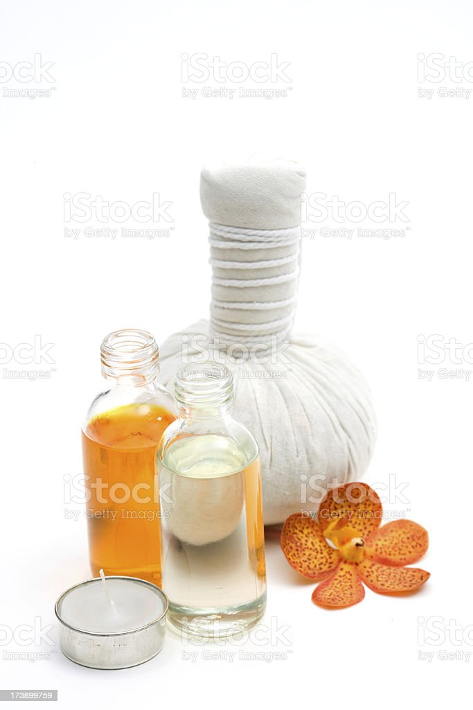 Herbal Compress stock photo