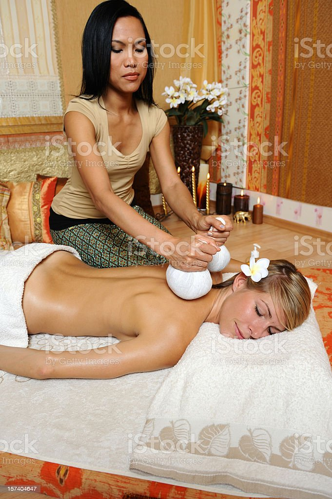 Herbal massage royalty-free stock photo