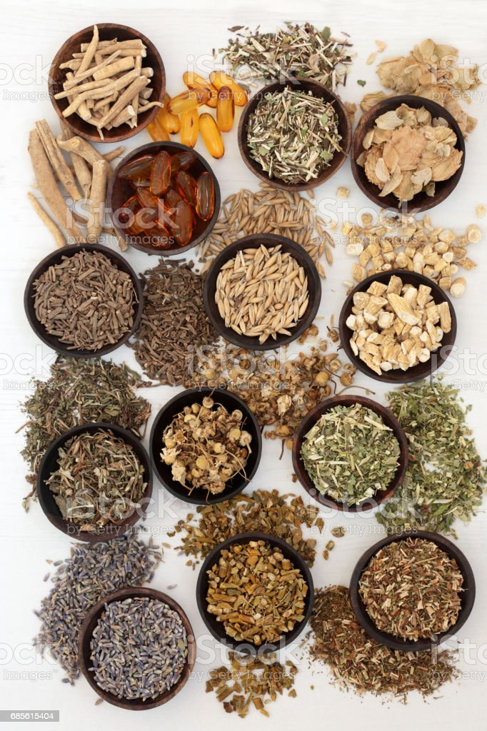 Herbal Medicine for Sleeping Disorders stock photo