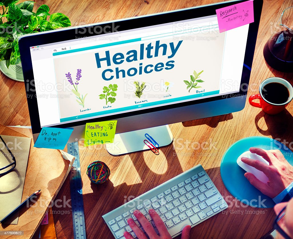 Herbal Medicine Healthy Choices Healthcare and Medicine Concept stock photo
