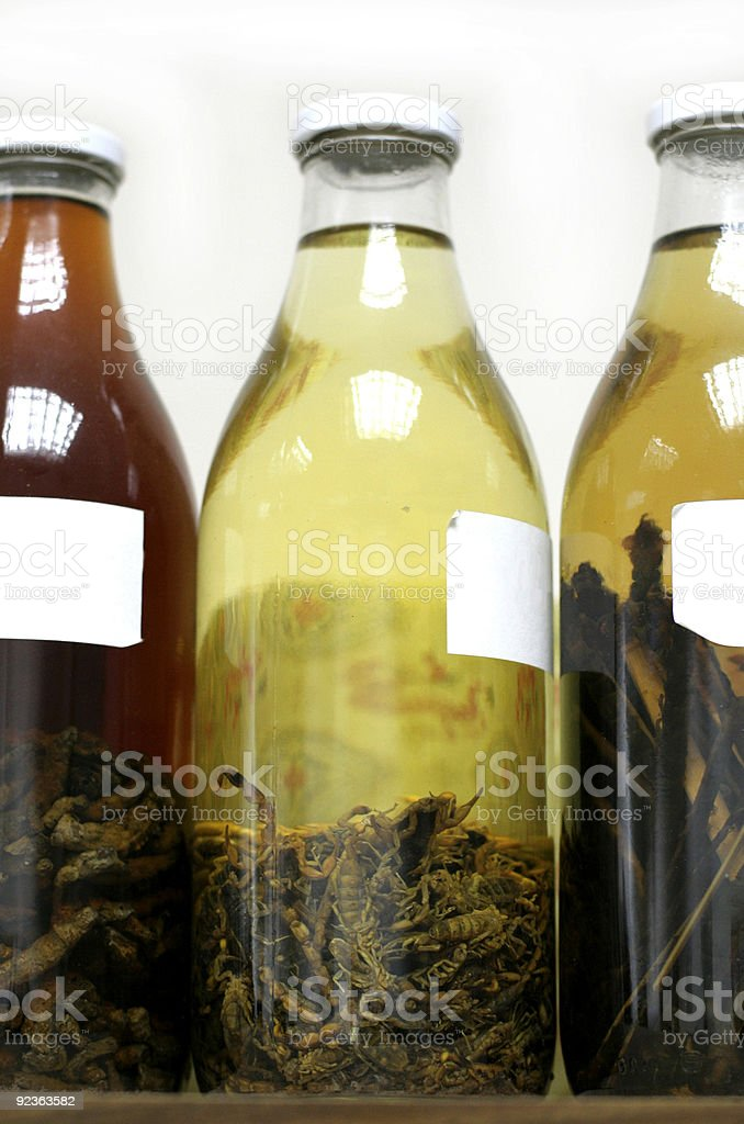 herbal medicine jars royalty-free stock photo