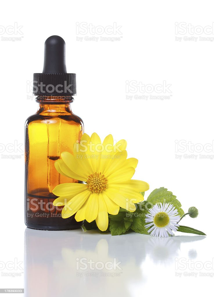 Herbal medicine or aromatherapy dropper bottle royalty-free stock photo