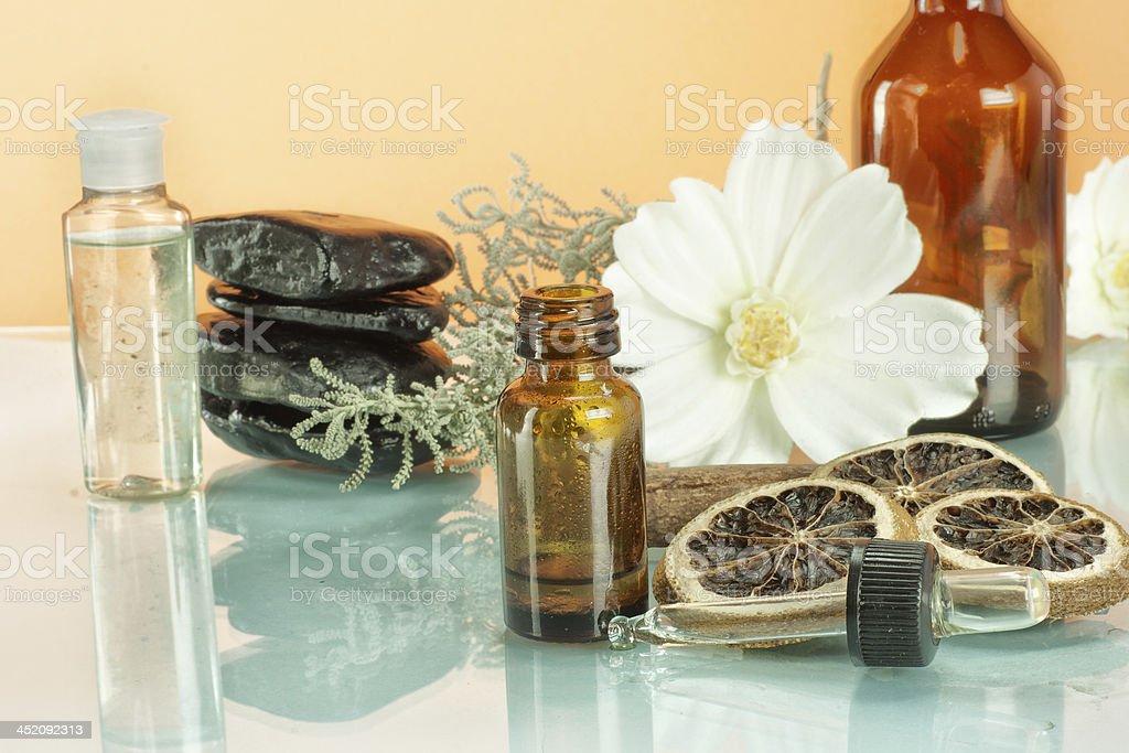 Alternative medicine on green pills