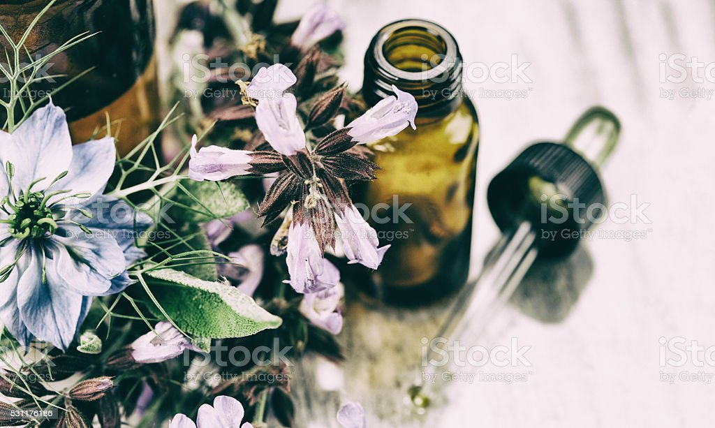 Herbal medicine stock photo