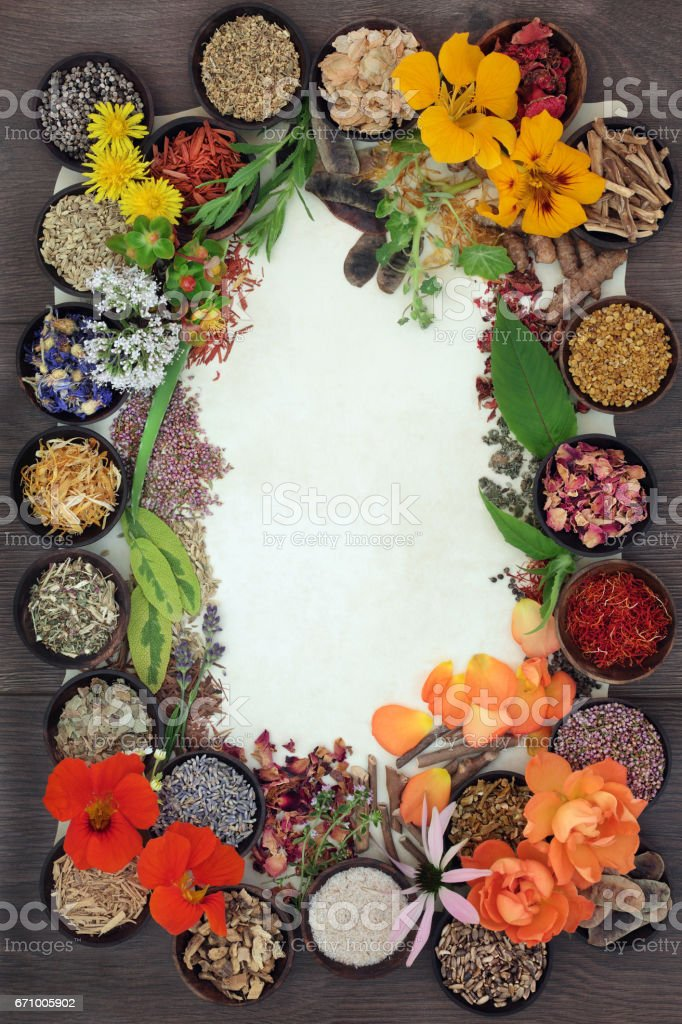 Herbal Medicine Selection stock photo