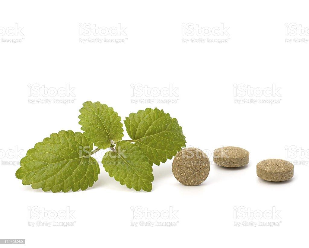 Herbal pills royalty-free stock photo