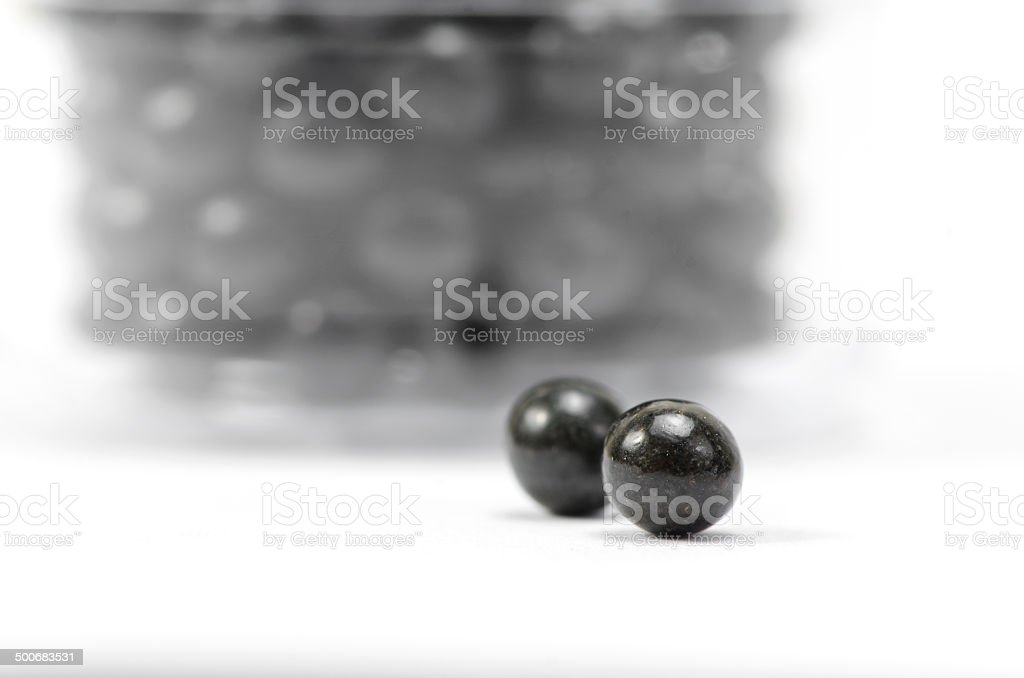 herbal pills stmach medicine isolated on white stock photo