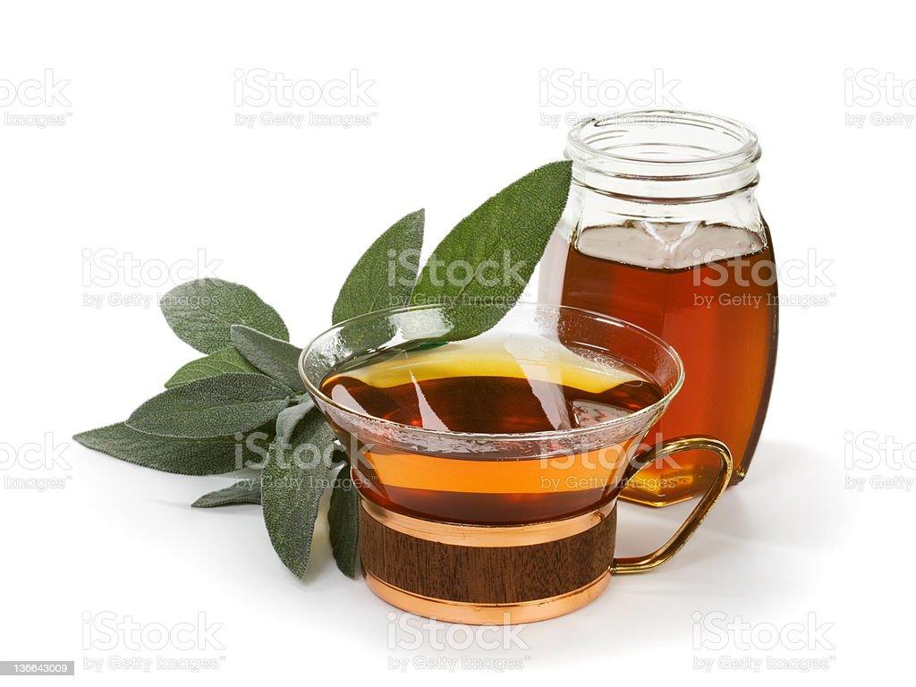 Herbal Sage Tea royalty-free stock photo