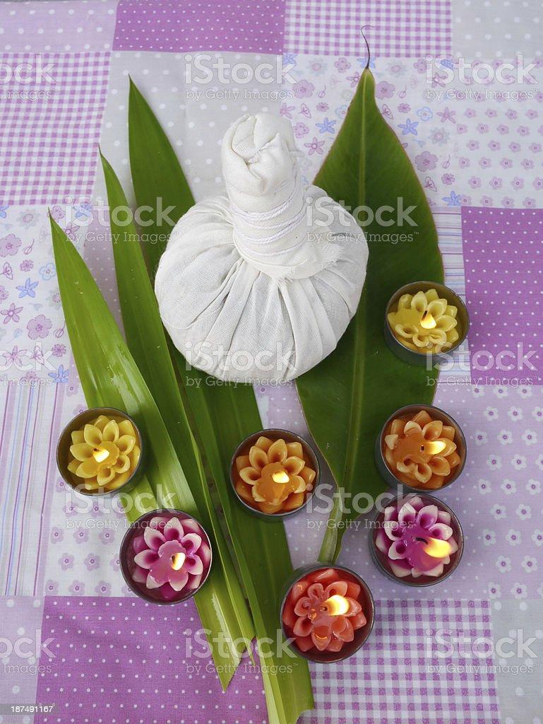 Herbal spa thailand stock photo