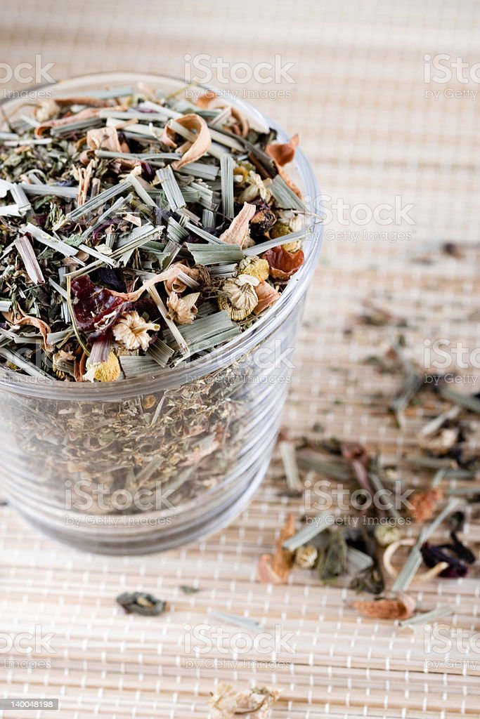 herbal tea in glass royalty-free stock photo