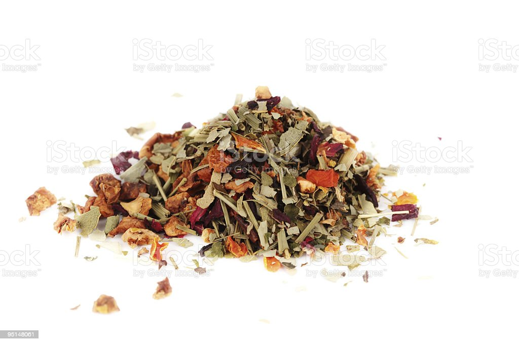 Herbal tea isolated on a white background royalty-free stock photo