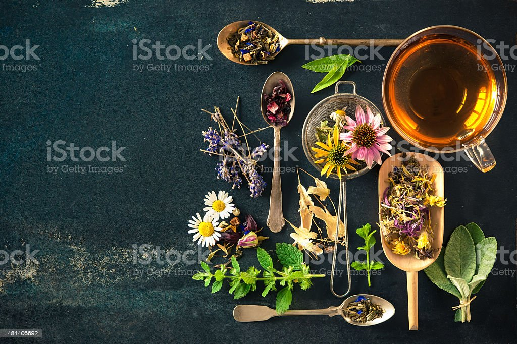 Herbal tea stock photo