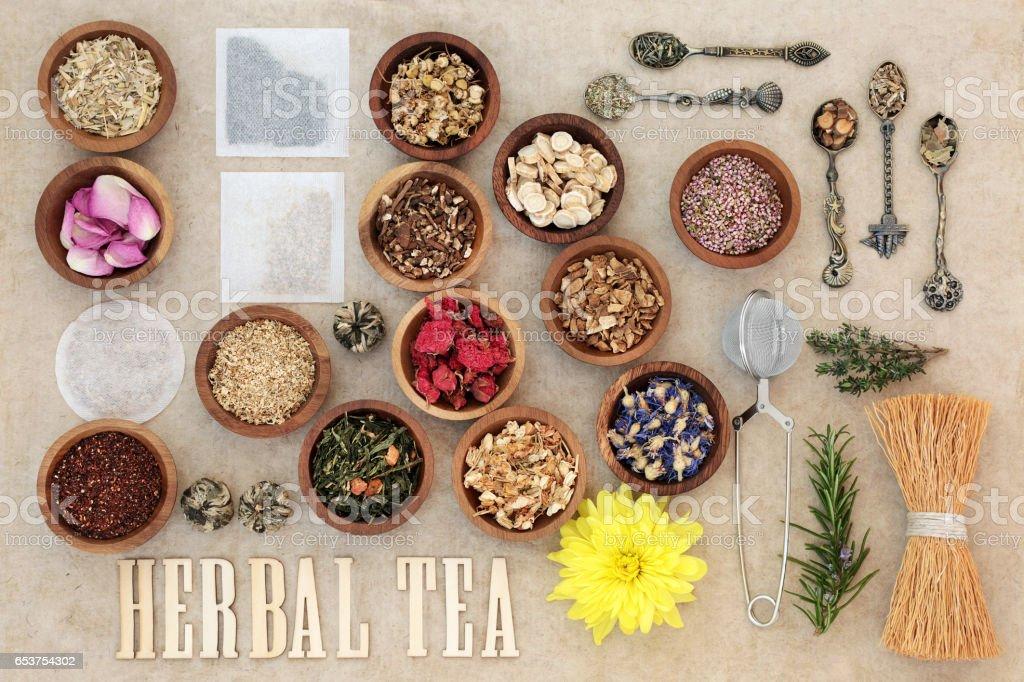 Herbal Tea Selection stock photo