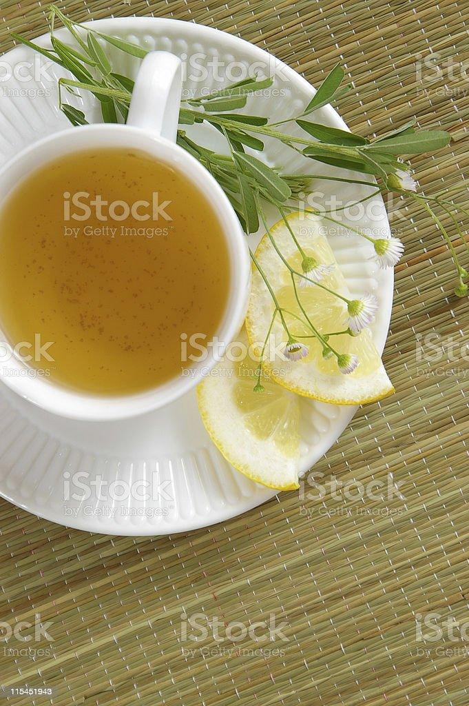 Herbal Tea-Overhead royalty-free stock photo
