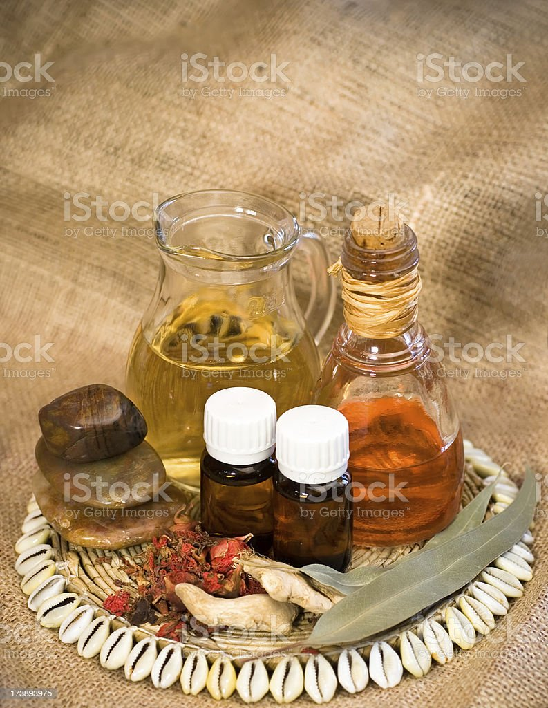 Herbal treatment royalty-free stock photo