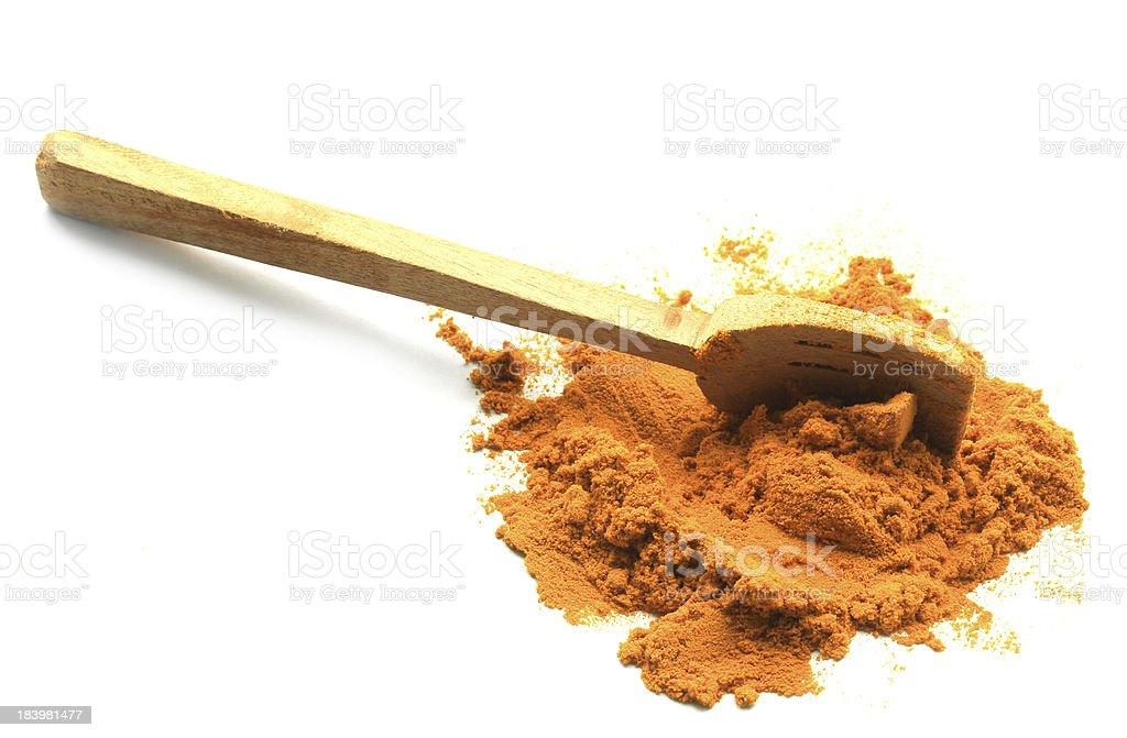herbal turmeric powder with spoon royalty-free stock photo