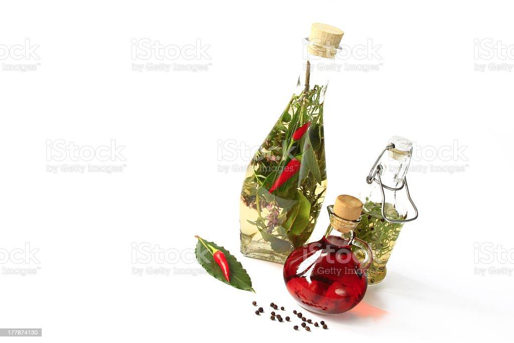 Herbal vinegar stock photo